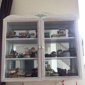 Avon Mini curio cabinet with California Perfume Co